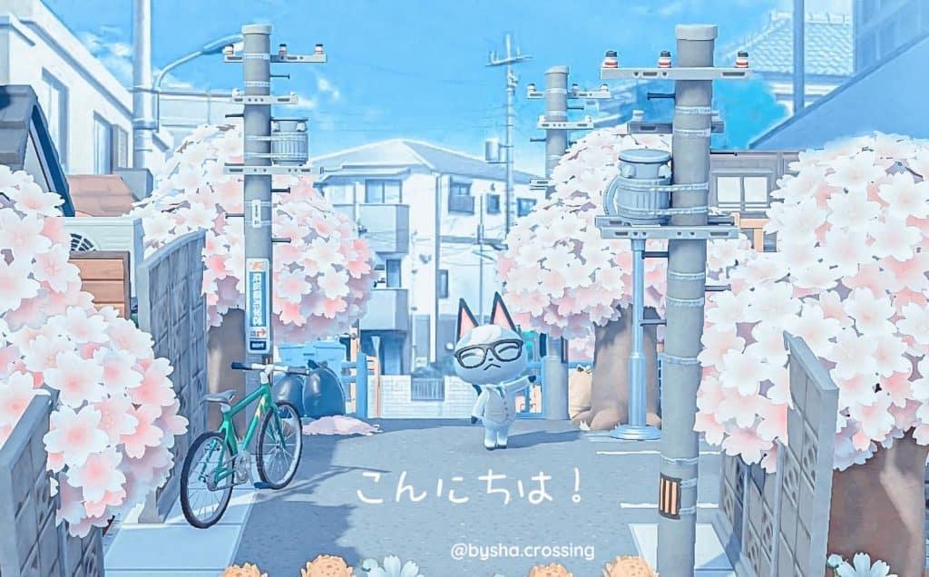 anime animal crossing village