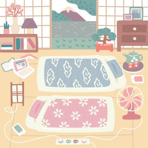 japanese futon room with view