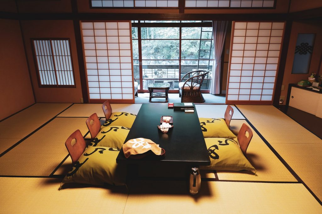 Japanese low table and seats