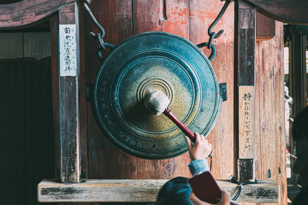 Japanese gong temple
