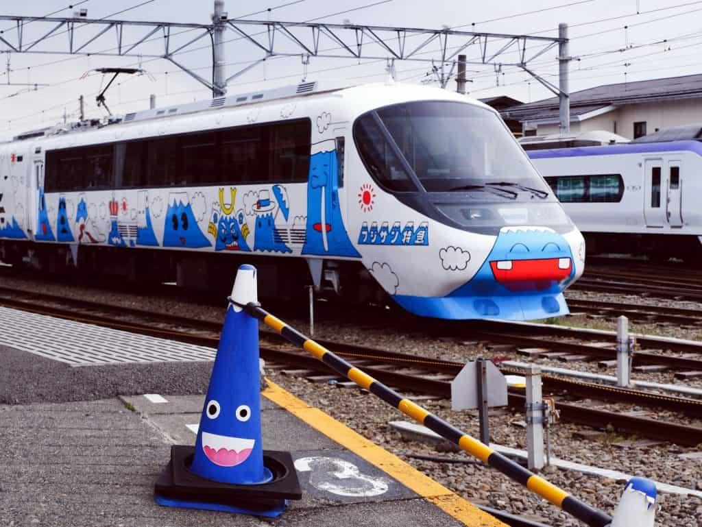 cute funny train face Japan