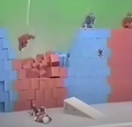 wall of boxes weird Japanese game show