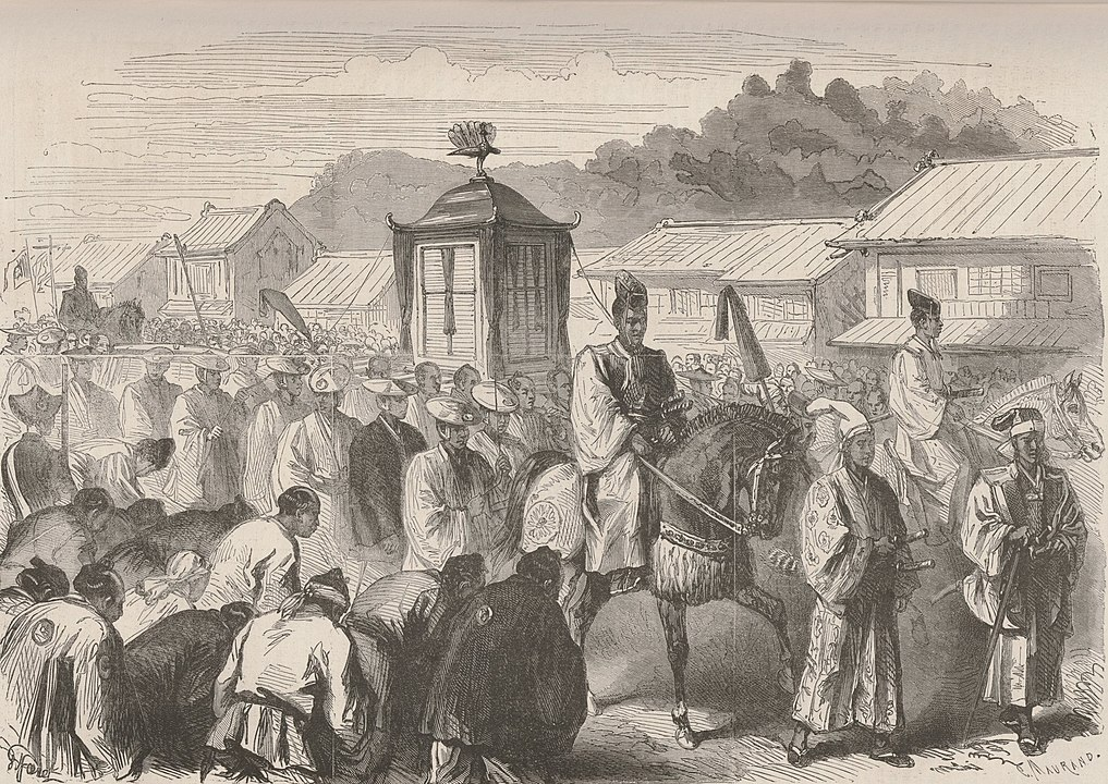 emperor meiji and the procession